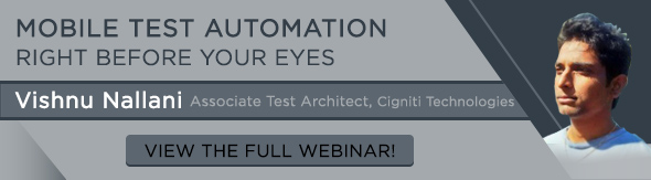 webinar on mobile test automation