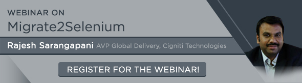 webinar on migrate to selenium - Rajesh